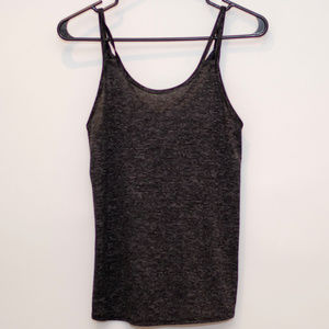 Old Navy Black Loose Active Tank W/Cross Back